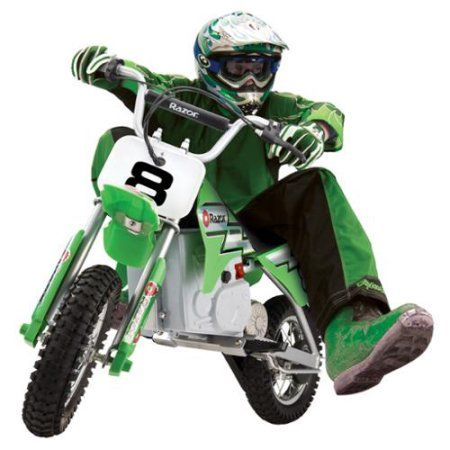 Razor Mx400 24v Dirt Rocket Electric Motorcycle Bike Green 15128030 Walmart Com Custom Motorcycles Bobber Dirt Bikes For Kids Motorcycle Bike