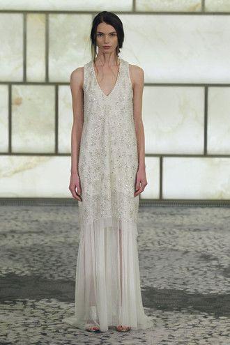 Rivini Simone Crystallized cocoon sheath tankette, layered atop lace ...