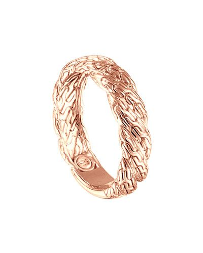 John Hardy Classic Chain Twisted Rose Gold Ring
