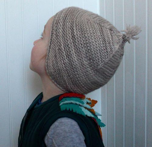 Garter Ear Flap Hat By Brienne | my pins | Pinterest