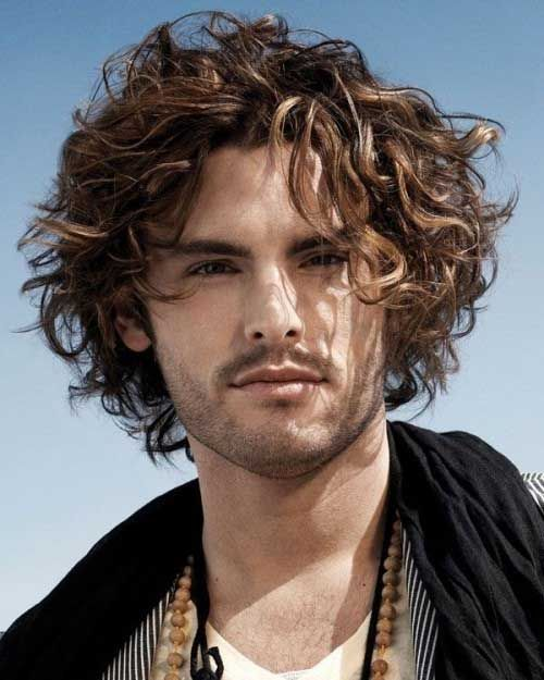 New Mid Length Hairstyles For Men Frisuren Lockige Frisuren