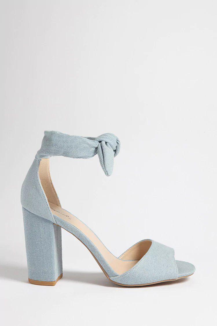 affea11045 Qupid Self-Tie Heels | forever 21 | step it up | Shoes, Tie heels ...