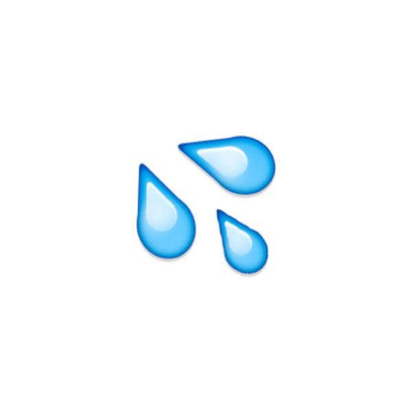 Splashing Sweat Symbol Liked On Polyvore Featuring Emoji And