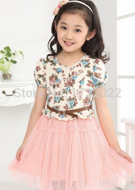 40325582 Conjunto coreano de niña falda rosa y blusa floreada celeste   cute ...