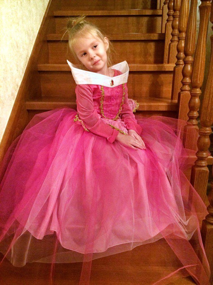 e37cb7137 Tienda Online Niñas Bella Durmiente princesa Cosplay party Vestidos niños  manga larga Aurora traje ropa niños Tutu vestido para Navidad