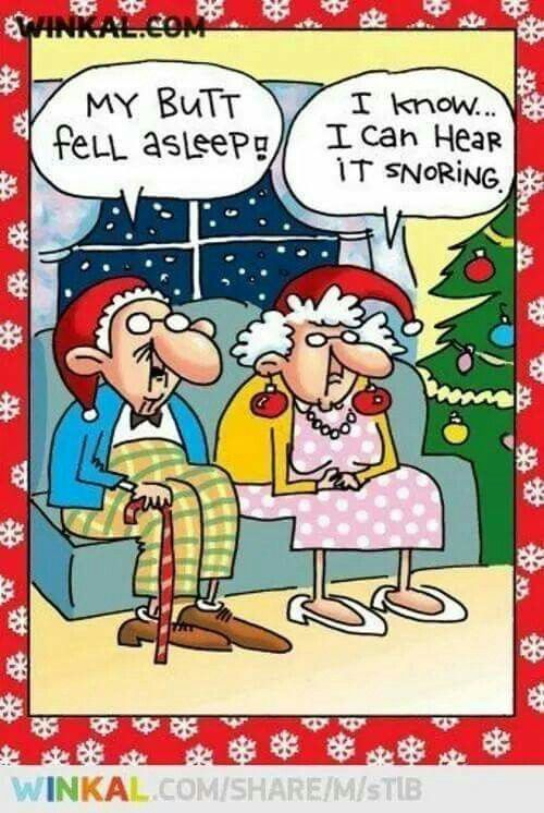 Old Man: My Button Fell Asleep Old Lady: I Know...I Can Hear it Snoring |  Funny old people, Funny christmas pictures, Funny cartoons
