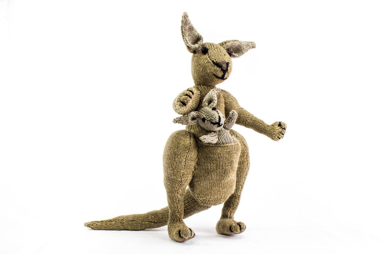Knitting pattern kangaroo knitting pattern toy knitting pattern knitting pattern kangaroo knitting pattern toy knitting pattern australian kangaroo wildlife toy knitted softies pattern knit animal bankloansurffo Choice Image