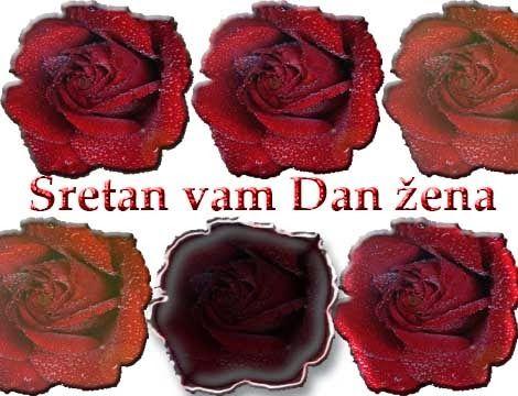 e čestitke za dan žena cestitke za: Čestitka za Dan žena U ružama | greeting cards  e čestitke za dan žena