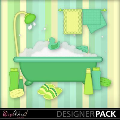 Digital Scrapbooking Kits | Bath Time Clip Art-(AWS) | Everyday | MyMemories