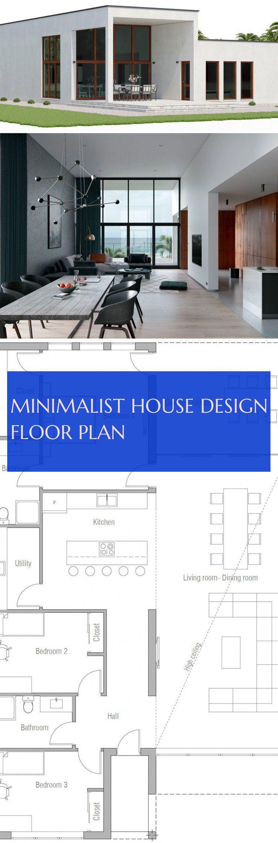 Minimalist House Design Floor Plan Minimalistisches Haus Design