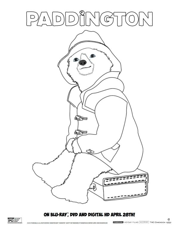 Printable Paddington Coloring Sheet Bear Coloring Pages