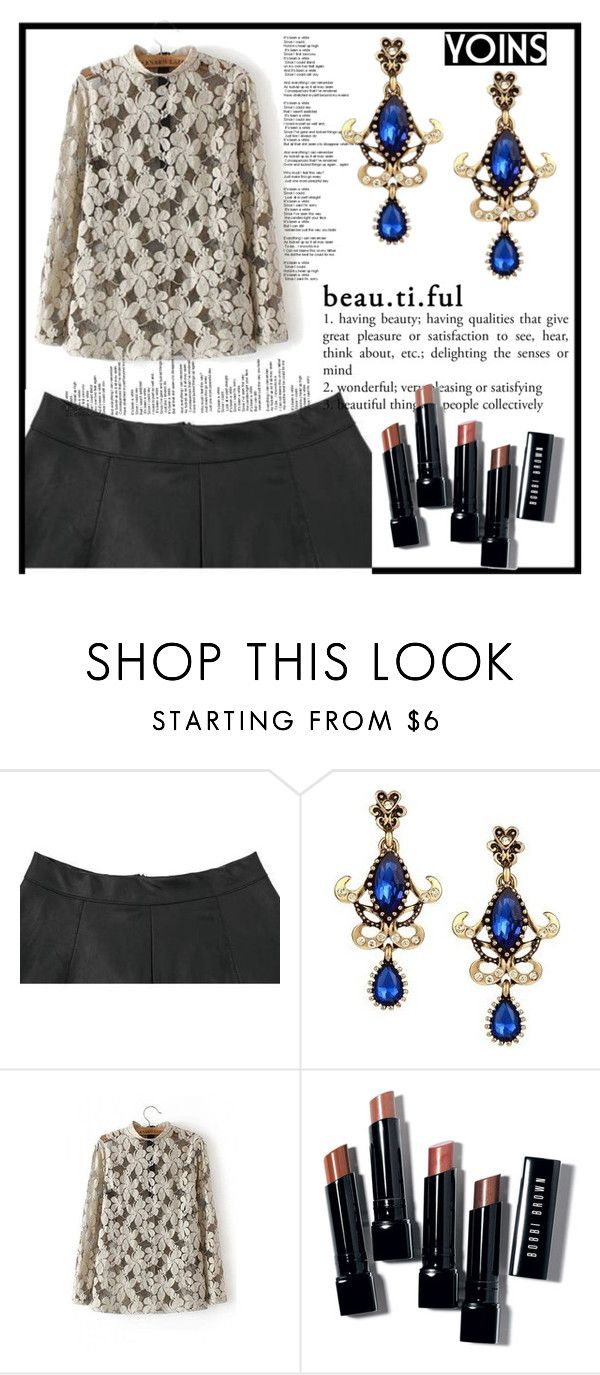 """""""YOINS http://yoins.me/1PrM4be"""" by ajsajunuzovic ❤ liked on Polyvore featuring Bobbi Brown Cosmetics, outfit, chic, fab and yoins"""