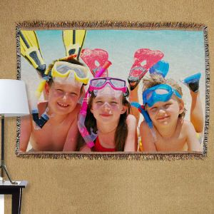 Summer Vacation Photo Tapestry Throw Blanket #Photo #PhotGift #PersonalizedGifts #Gifts #PersonalizedPhotoGifts #GiftsForYouNow