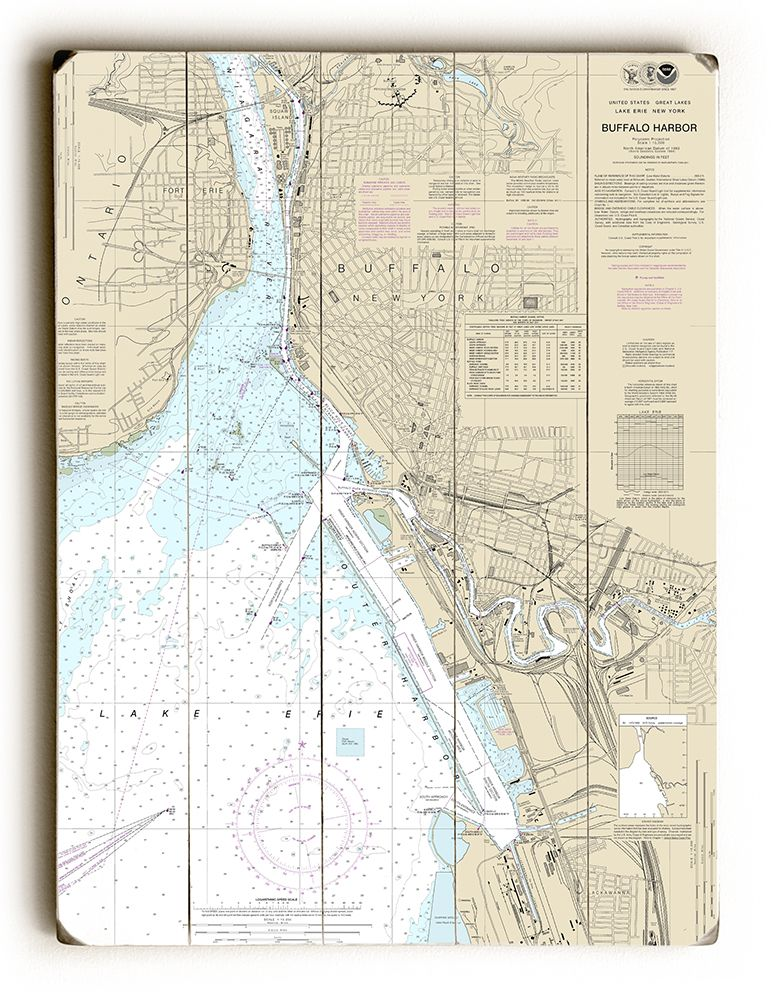 Ny Buffalo Harbor Ny Nautical Chart Sign Nautical Chart Nautical Signs