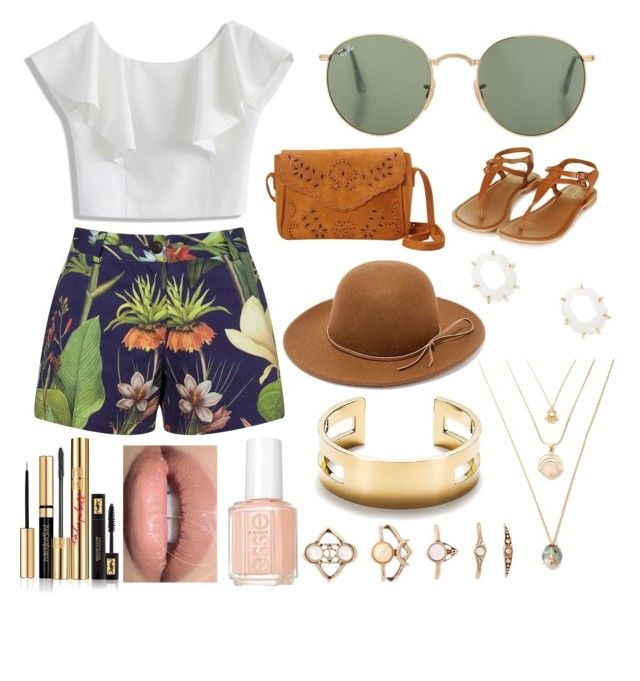 """""""Lojaine's look"""" by mayaismail on Polyvore featuring Penfield, Chicwish, Topshop, RHYTHM, Kendra Scott, Tiffany & Co., Forever 21, Essie and Yves Saint Laurent"""