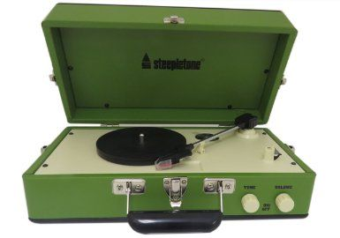 Steepletone SRP025 3 Speed Record Player with Detachable Speaker - Green: Amazon.co.uk: TV
