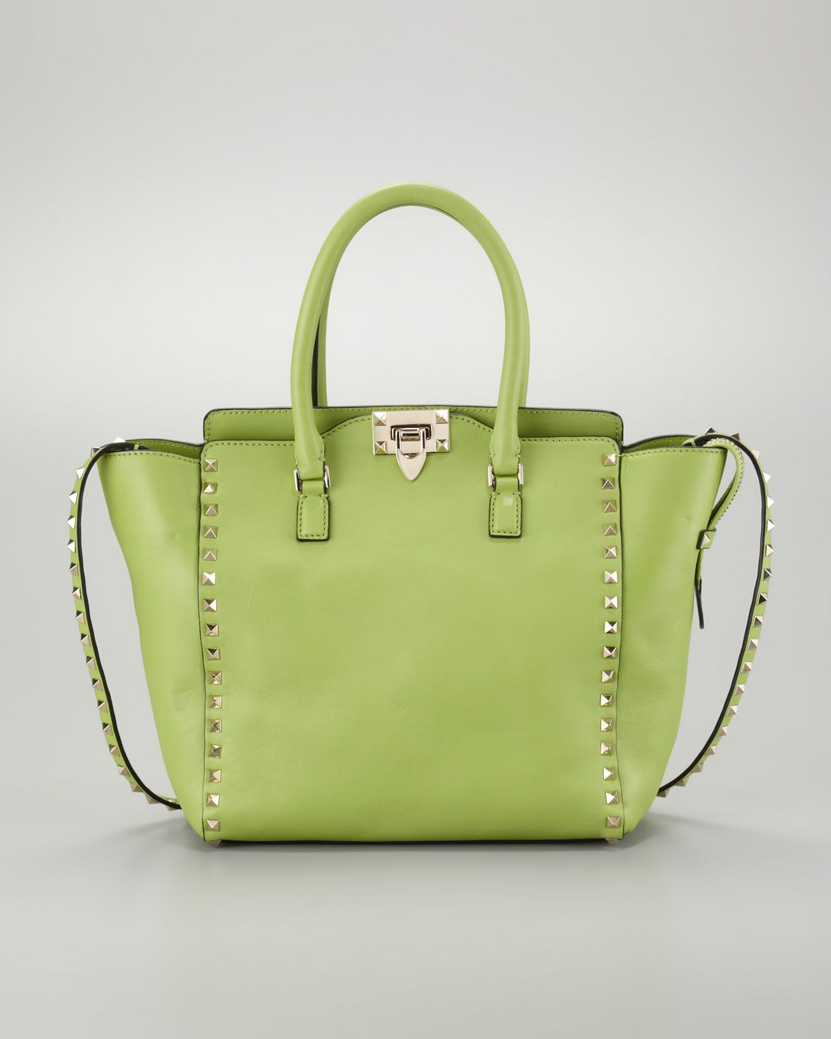 cb34d4e2da0 Rockstud Medium Tote Bag, Pop Apple - Valentino, Neiman Marcus ...