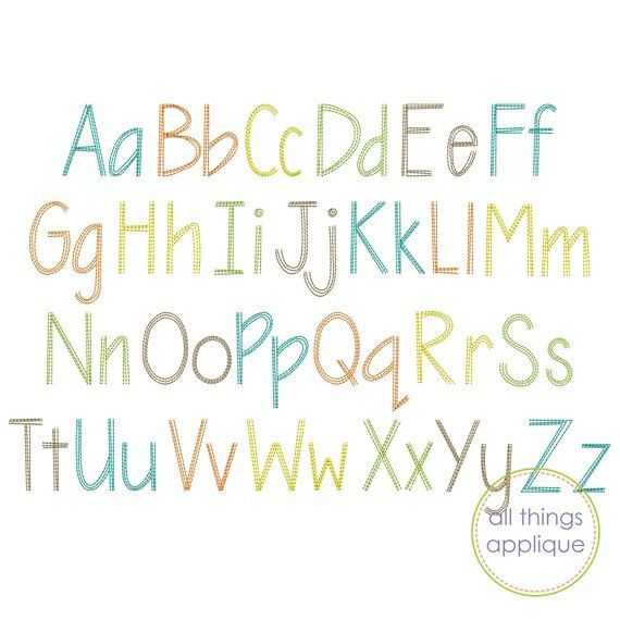 Triple Scribble Embroidery Font (#1199) - 26 Letters - Upper and Lower - 4 Sizes - Machine Embroider #design #Download #Embroidery #Font #INSTANT #letters #Machine #Scribble #Sizes #Triple #Upper