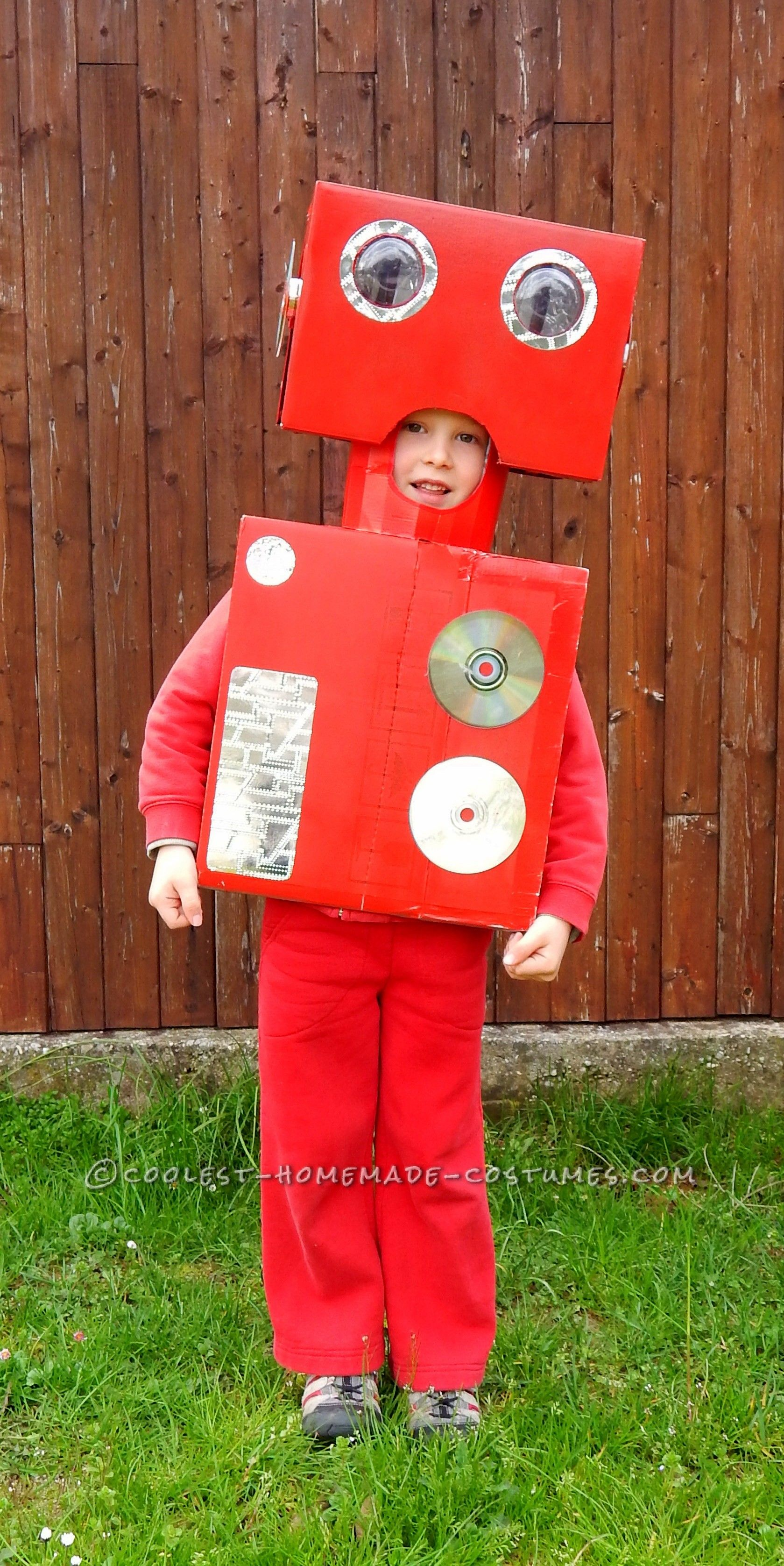 Cool Red Robot Costume Halloween Costume Contest