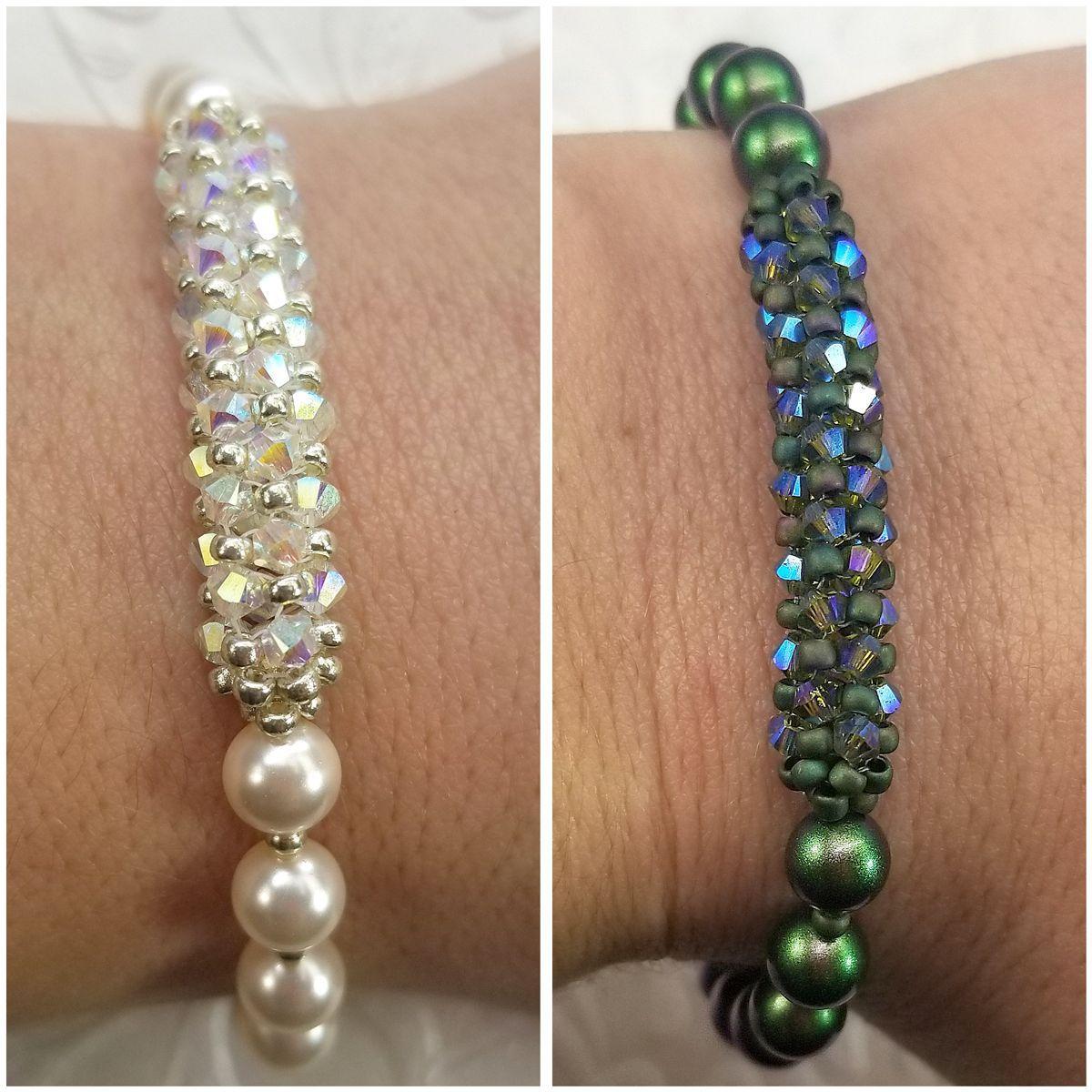 Pavé Swarovski Crystal  Pearl Bracelet VIDEO TUTORIAL  Pavé Swarovski Crystal  Pearl Bracelet by Leah Wyckoff  Eureka Crystal Beads
