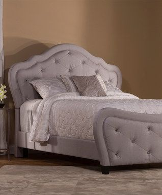 Silver Linen Fabric Park Place Bed Frame | Master Bedroom Mood Board ...