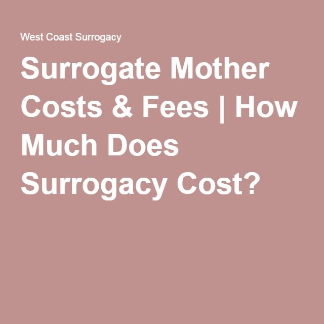 Surrogate Mother Costs & Fees | How Much Does Surrogacy ...