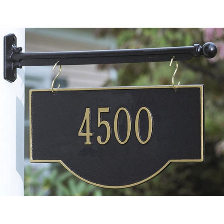 Two Sided Hanging Arch Address Plaque 1 Line Address Plaque