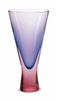 "Flavio Poli Glass vase Designed c. 1950 Seguso 14"" x 7"" x 3.5"""