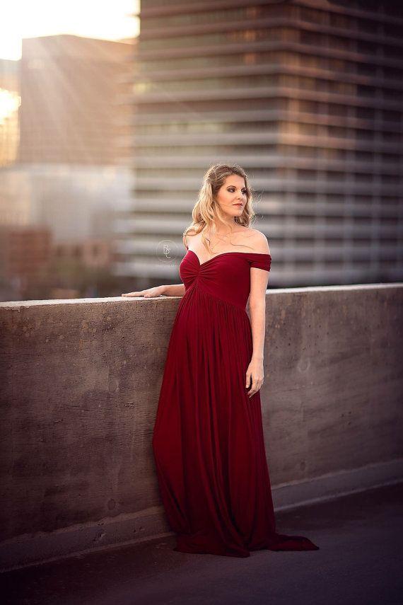 Burgundy Maternity Dress