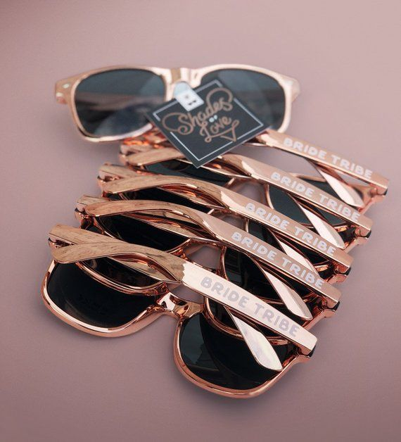 fba55fcb769 Rose Gold Bachelorette Party Sunglasses Rose Gold Sunglasses Bride Tribe  Sunglasses Bridesmaid Rose