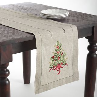 Overstock Com Online Shopping Bedding Furniture Electronics Jewelry Clothing More In 2020 Embroidered Table Runner Christmas Table Runner Christmas Tree Design