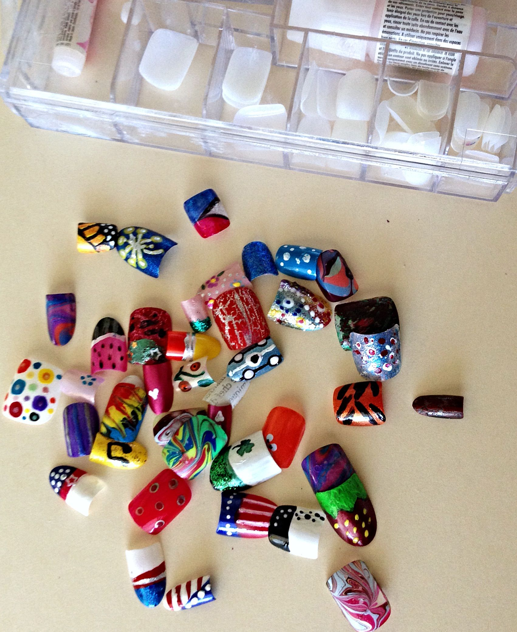 Use Press On Nails To Practice Nail Art Designs Attach