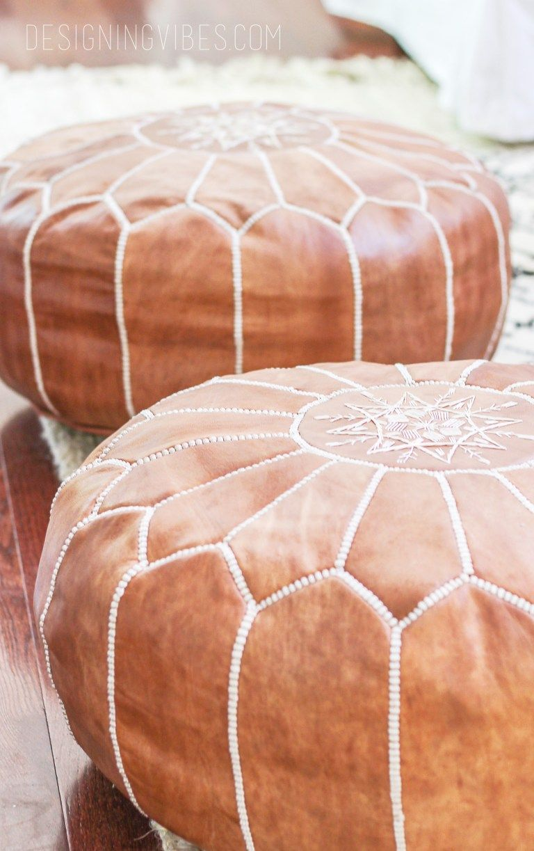 How To Buy Leather Moroccan Poufs On The Cheap Boho Leather