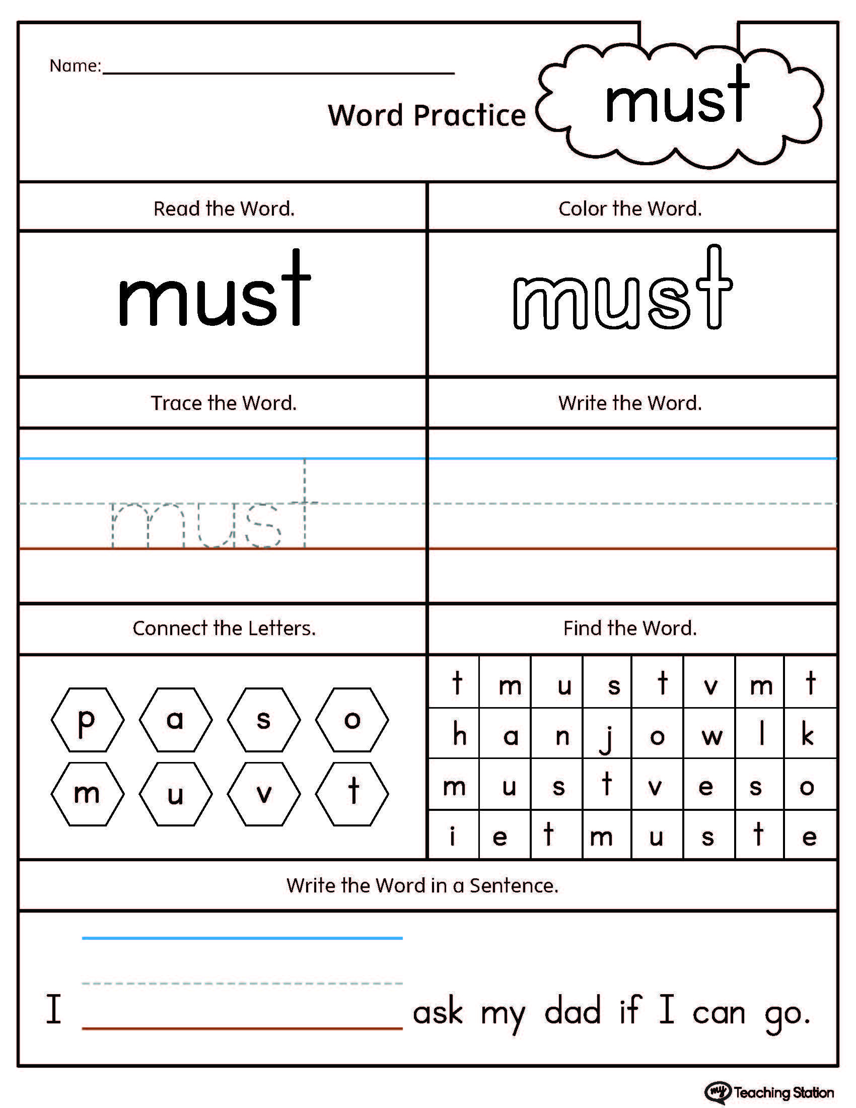High Frequency Words Printable Worksheets With Images
