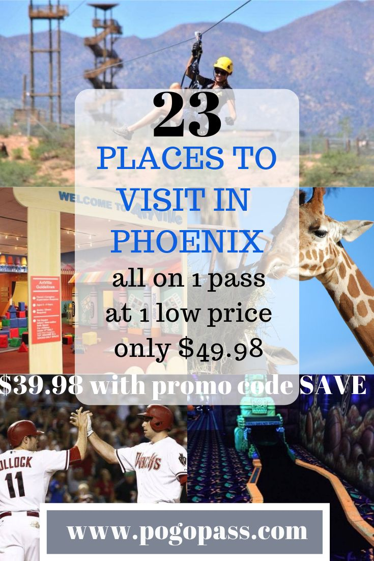 Our phoenixpogo pass currently has 23 places for you to