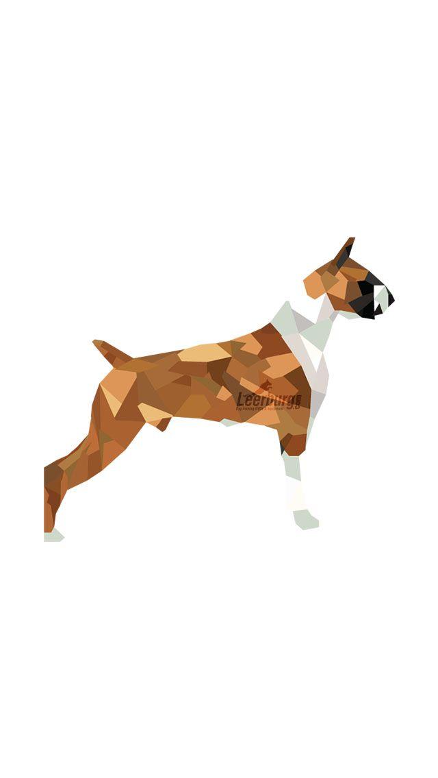 Boxer Dog Wallpaper Iphone Polyart Art Poly Design Dog Wallpaper Iphone Dog Wallpaper Cute Cat Wallpaper