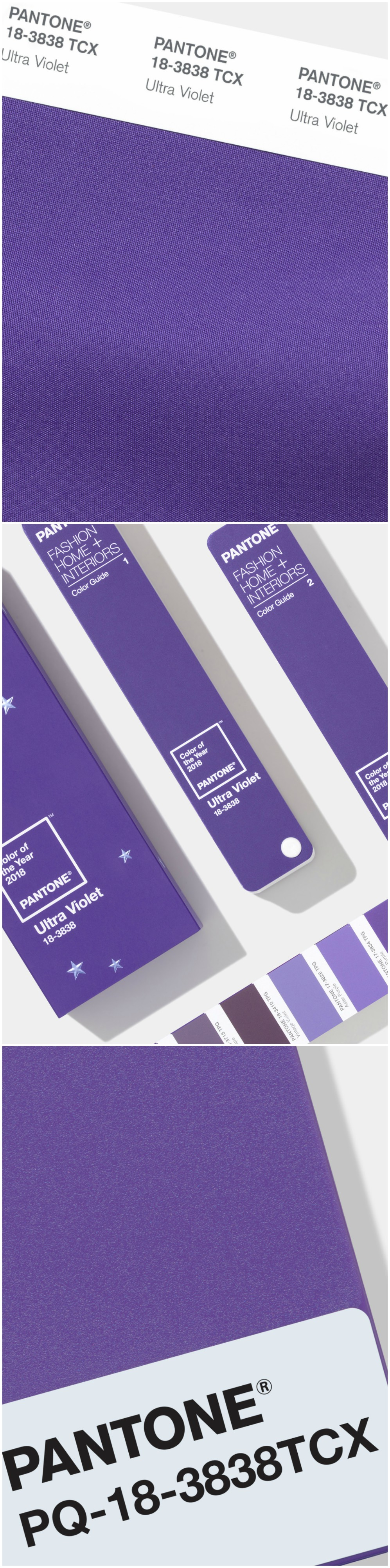 Pantone has announced Ultra Violet as its Colour of the Year for 2018. This bold, forward-thinking purple hue is distinct and complex, and a rather refreshing choice. Described as a 'dramatically provocative and thoughtful purple shade', Pantone's 18-3838 Ultra Violet conveys originality, ingenuity and visionary thinking that points us towards the future. #pantone #UltraViolet #purple #colour #colourpop #trends #colouroftheyear #coty