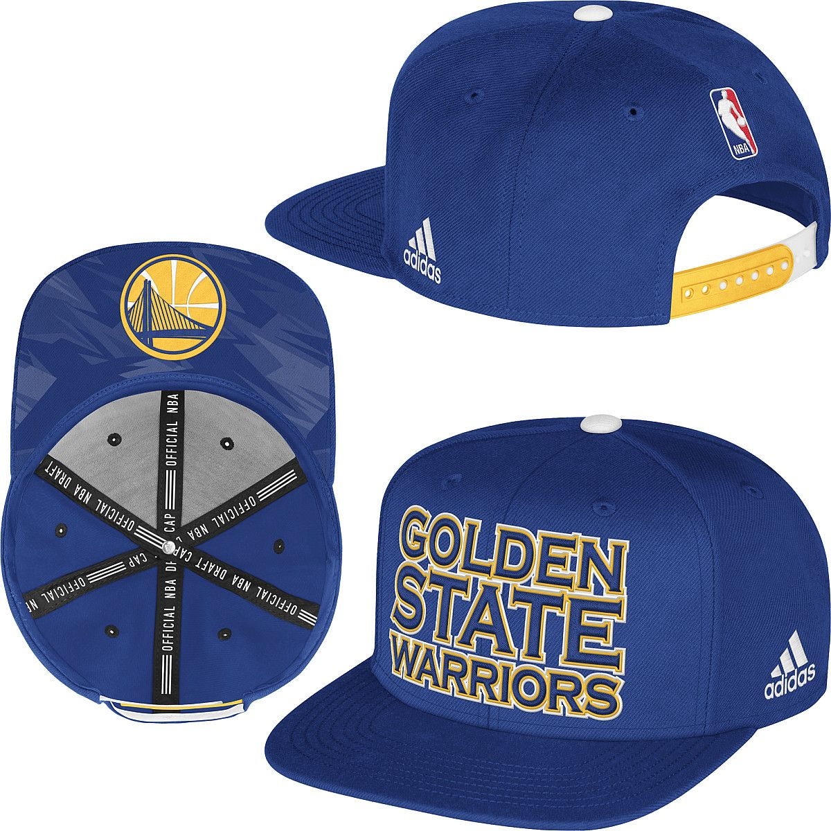 look for 100% authentic usa cheap sale adidas Golden State Warriors 2013 Authentic NBA Draft Snapback Hat ...