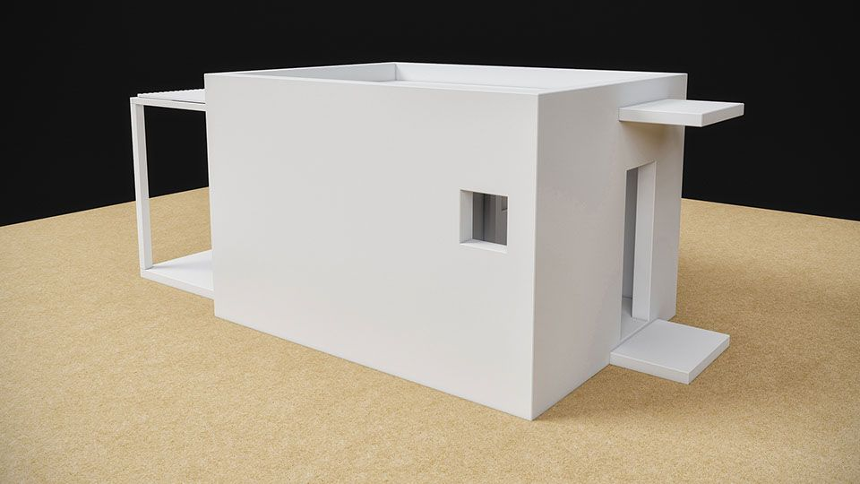 House Plan. Prefabricated House 21 sqm, Architectural