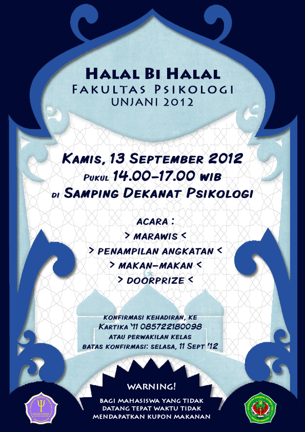 Halal Bi Halal Psikologi Unjani 2012 My Design S Di 2019