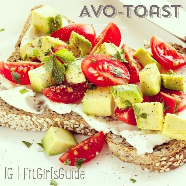 @FitGirlsGuide Quick and pretty: toast, cream cheese, avocado, cherry tomatoes, fresh ground pepper and a sprinkle of parsley : @FitGirlsGuide #Padgram