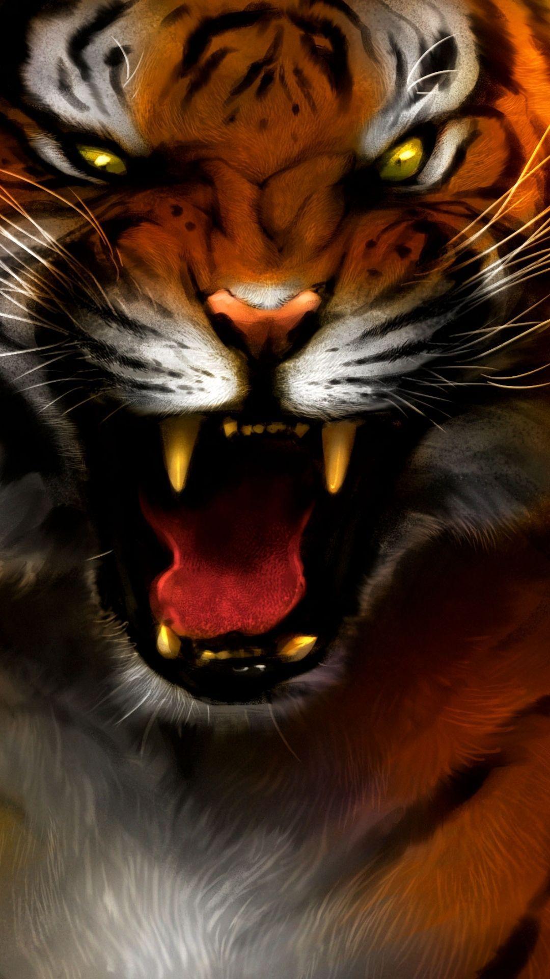 50+ Tiger Phone Wallpapers Download at WallpaperBro