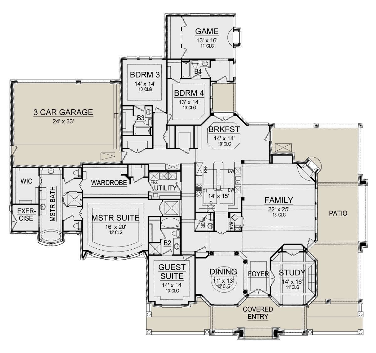 House Plan 5445 00403 French Country Plan 4 891 Square Feet 4 Bedrooms 4 5 Bathrooms In 2020 Cabin House Plans House Plans House Floor Plans