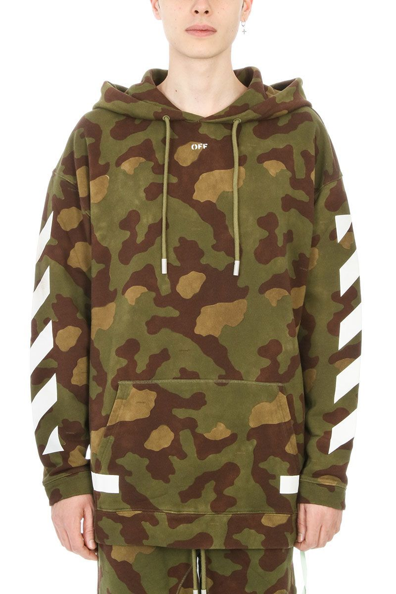 3088eecf1439 OFF-WHITE DIAG CAMOUFLAGE COTTON HOODIE.  off-white  cloth