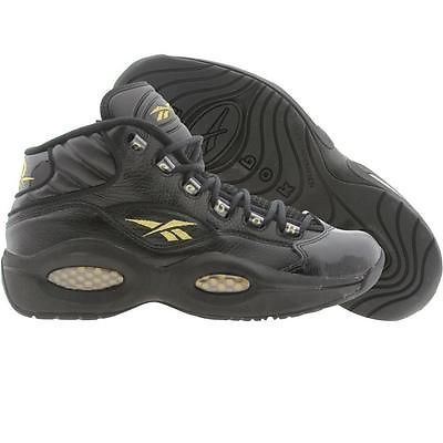 In Stock Iverson Reebok Question Mid black gold V48294 size 9 ~ 13 ... c5fbf9951