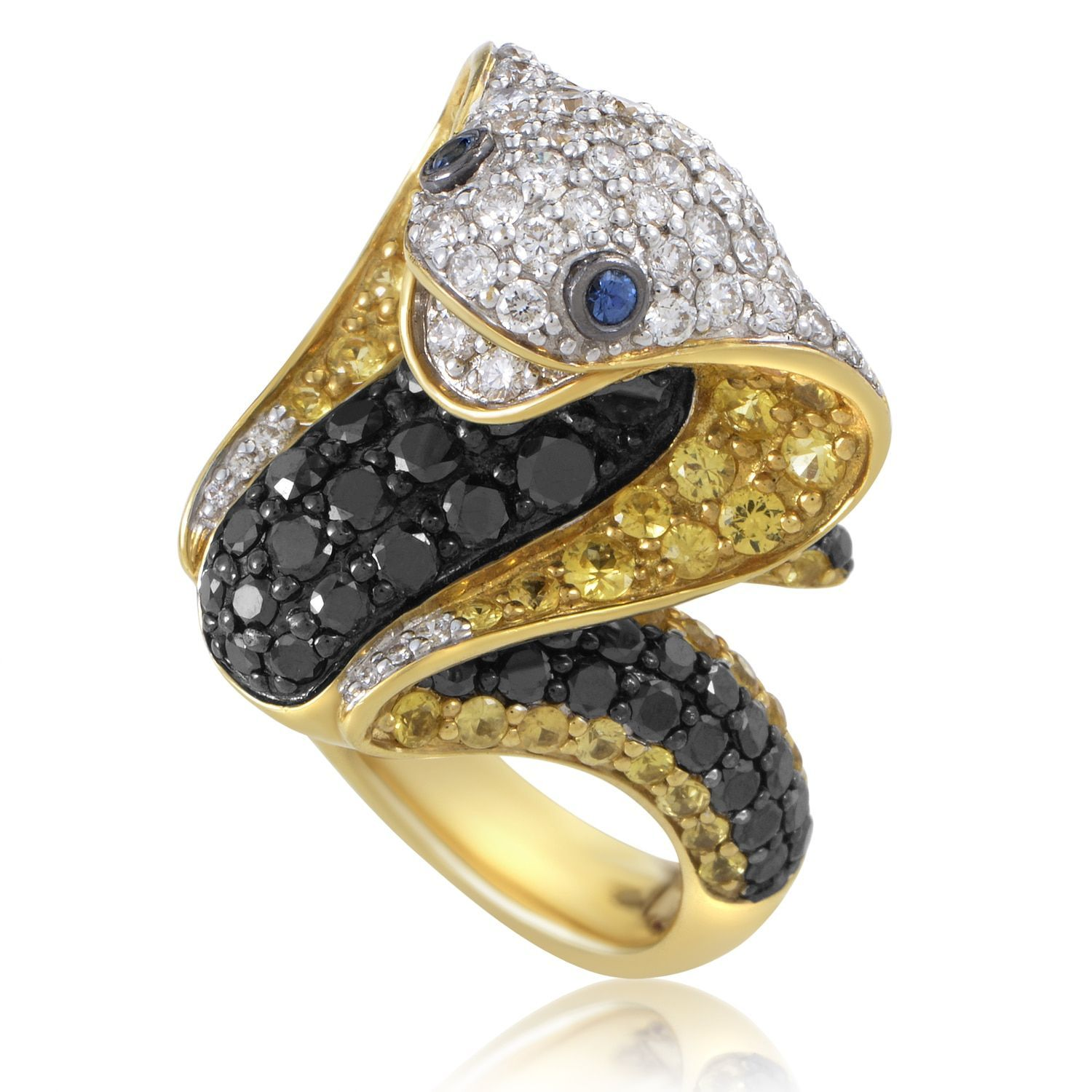 layer diamond tw trio by in and rose tri tone jewelry ct lyst multi gallery ring effy bands white collection gold yellow