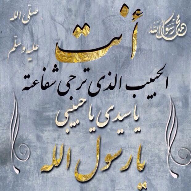 أنت الحبيب الذي ت رجى شفاعته Arabic Calligraphy Calligraphy Arabic