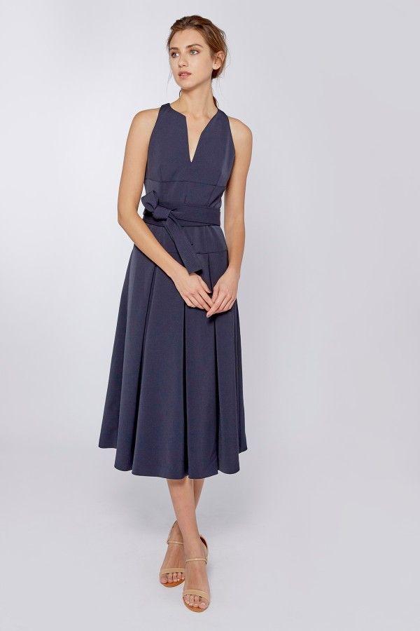 df378be7a66a Luna Midnight Midi Dress | Dresses | Amanda Wakeley | Bridesmaids ...