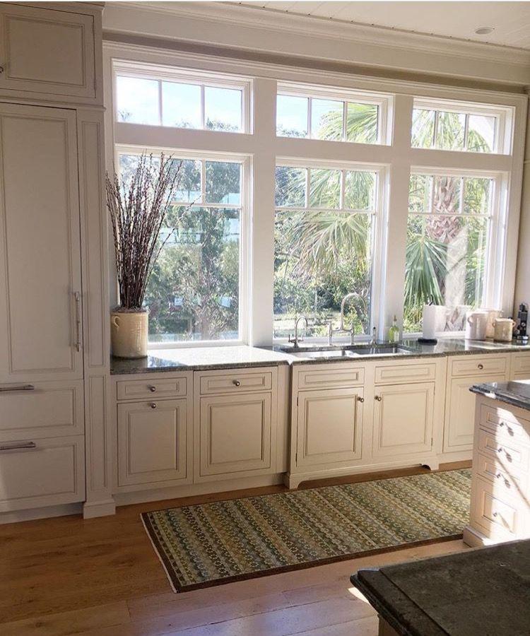 Counter height kitchen windows w/ transoms above | Kitchen ...