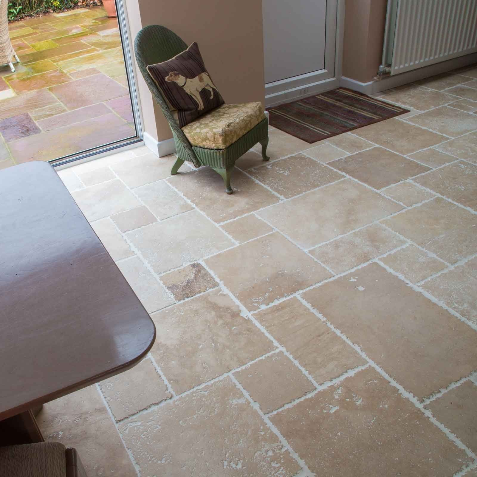 Classic Aegean Brushed Travertine Floor Tiles Natural Stone